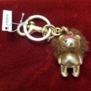COACH Wizard of Oz Lion LE Key Chain NWT